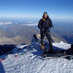Gary climbing Mt Elbrus, Russia